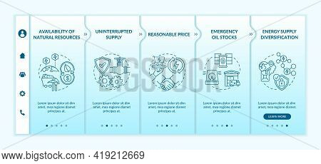 Energetic Security Elements Onboarding Vector Template. Responsive Mobile Website With Icons. Web Pa