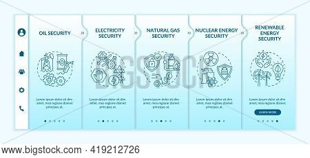 Energetic Security Types Onboarding Vector Template. Responsive Mobile Website With Icons. Web Page