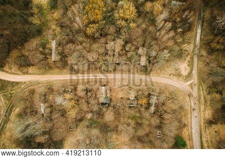 Belarus. Abandoned Houses In Chernobyl Resettlement Zone. Chornobyl Catastrophe Disasters. Dilapidat