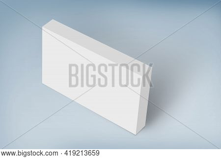 3d White Box On Ground, Editable Mock-up Series Template Ready For Your Design, Faces Selection Path