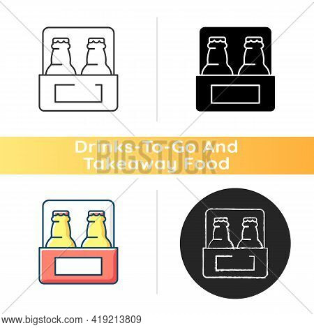 Beer To Go Icon. Carbonated Drink For Takeaway. Consuming Alcoholic Drink. Brewing And Fermentation