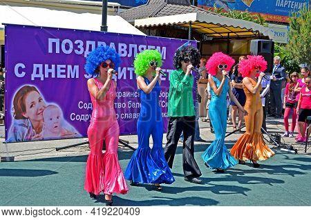 Alushta, Crimea, Ukraine - Jun 01, 2013: Concert At Embankment Devoted To Children Protection Day On