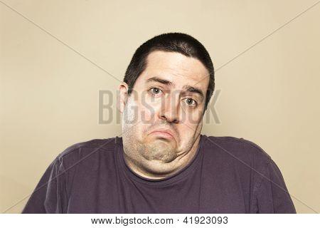 A man shrugs