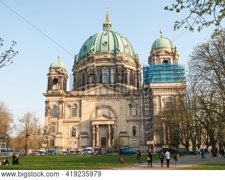 Berlin, Germany, April 7, 2019: Berlin Cathedral On The Spree River