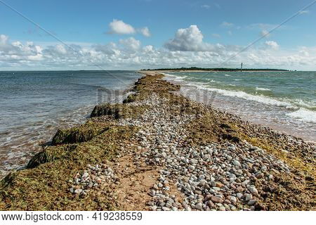 Sunny Summer Day By Baltic Sea Copy Space For Text Travel Agency.wandelust Travel Background.power O