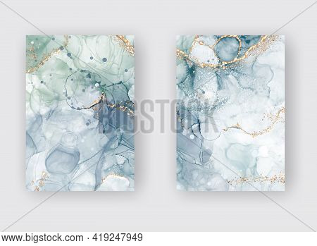 High Quality Vector Alcohol Ink Shape In Tender Pink And Gold Colors. Vector Abstract Painting. Wedd