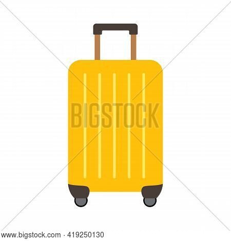 Colored Travel Suitcases Isolated On White Background. Vector Illustration