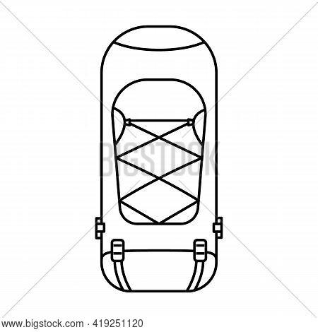 Black And White Travel Backpacks Isolated On White Background. Vector Illustration