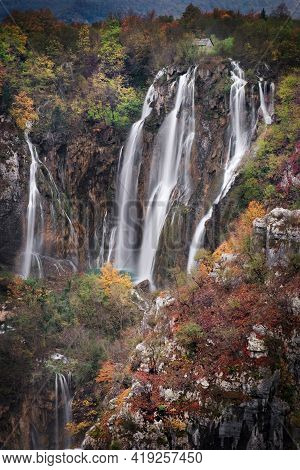 Photo Of The Falls At The Plitvice National Park In Croatia