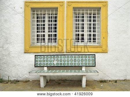 Traditional Tunisian Bench