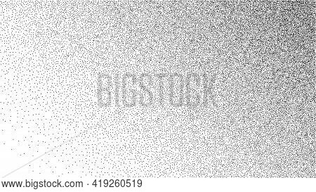 Dot Stipple Gradient Background. Halftone In Dotwork Style. Grainy Dotwork Texture. Vector Illustrat