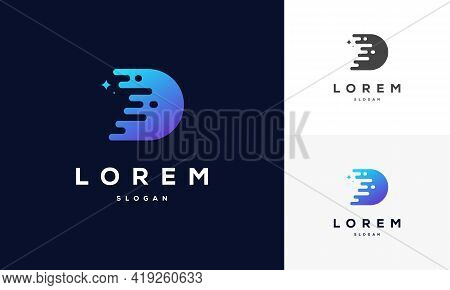 Tech Initial Letter D Business Logo In Simple And Modern Style, Company Name Beginning With D Letter
