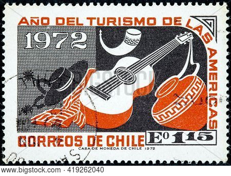 Chile - Circa 1972: A Stamp Printed In Chile From The