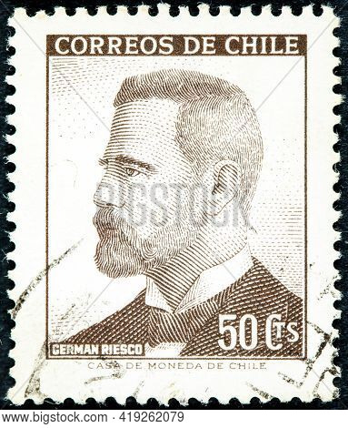 Chile - Circa 1966: A Stamp Printed In The Chile Shows German Riesco, 5th President Of Chile, 1901 -