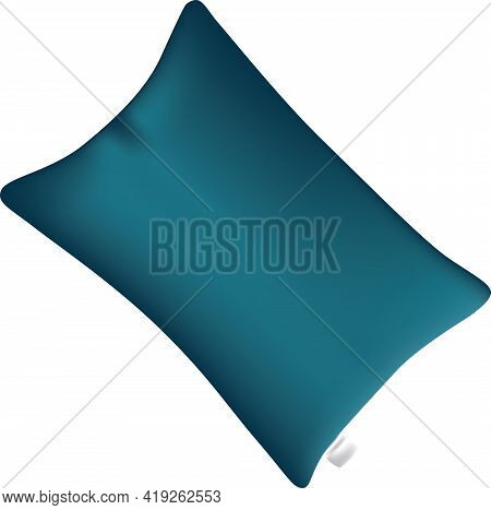 Classic Pillow With Tag Without Pillowcase. Vector Illustration.