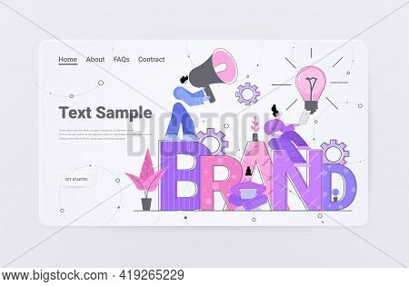 Businesspeople Employers Working On Branding Design Brand Concept Horizontal