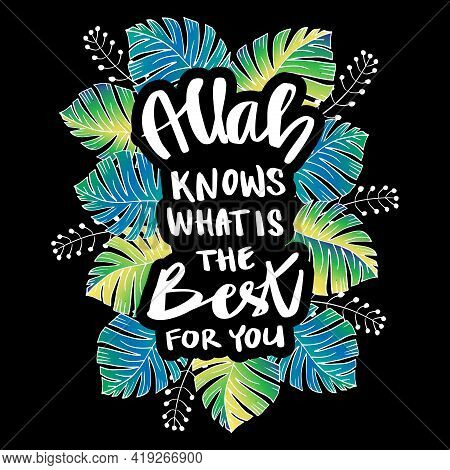 Allah Knows What Is The Best For You. Islamic Quote.