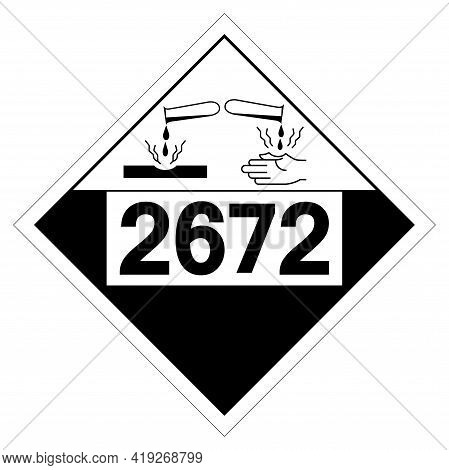 Ammonia Solutions Un2672 Symbol ,vector Illustration, Isolate On White Background Label. Eps10