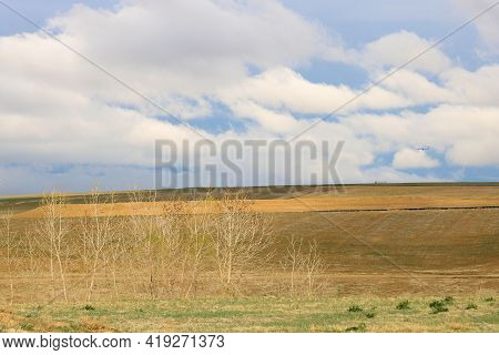 Rural Grasslands On A Lush Plateau Taken At A Prairie In The Eastern Colorado Great Plains