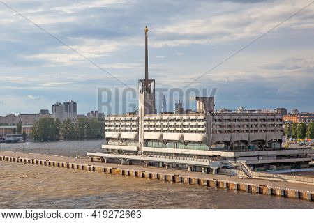 Saint Petersburg, Russia - July 23, 2017: Building of the Marine Passenger Terminal in Saint Petersburg
