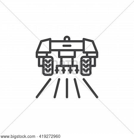 Agricultural Machinery Line Icon. Linear Style Sign For Mobile Concept And Web Design. Agricultural