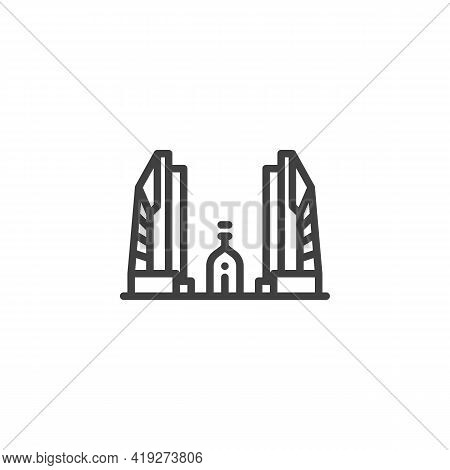 Buddhist Temple Line Icon. Linear Style Sign For Mobile Concept And Web Design. Thailand Temple Outl