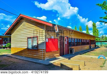 Keningau,sabah-nov 4,2016:typical Wooden Government School Building In Merampong Village,keningau,sa