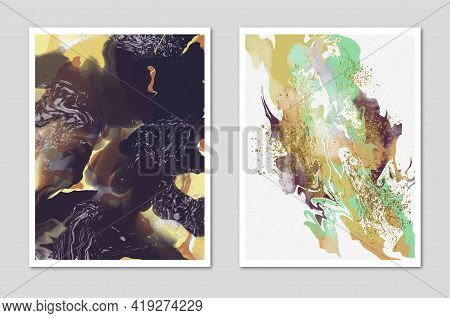 Creative Hand-painted Illustration For Wall Decoration, Postcard Cover Design Or Brochure Design. Ab