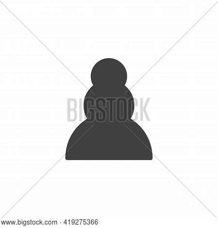 Pawn Chess Piece Vector Icon. Filled Flat Sign For Mobile Concept And Web Design. Pawn Figure Glyph