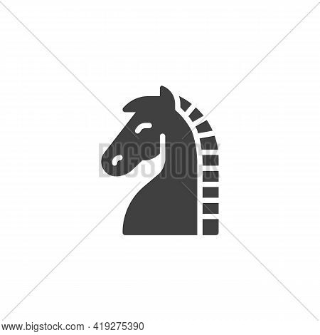 Horse Chess Vector Icon. Filled Flat Sign For Mobile Concept And Web Design. Chess Knight Glyph Icon