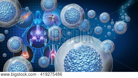 Stem Cell Therapy And Treatment For Painful Joints As Multicellular Organisms For Cellular Treatment