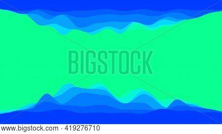 Graphical Representation Of Data. Electric Impulse, Soundwave Or Financial Chat. Flat Vector Design