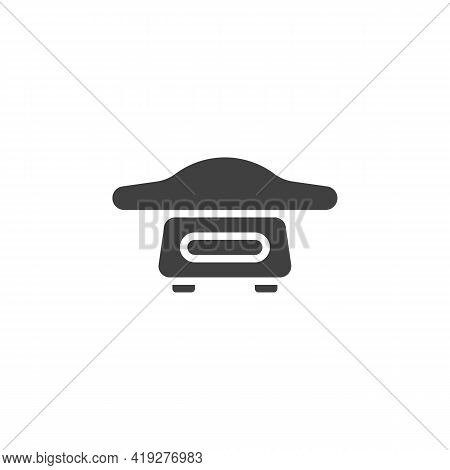 Baby Weight Vector Icon. Filled Flat Sign For Mobile Concept And Web Design. Weight Scale For Infant