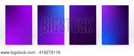 Minimal Poster. Pastel Soft. Violet Gradient Set. Graphic Color Background. Blurred Mesh Texture. Ve