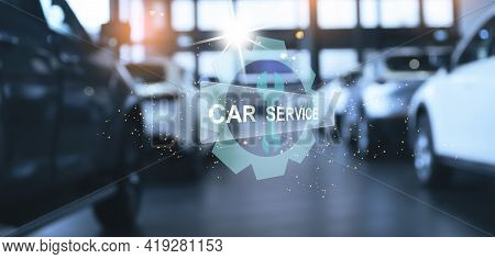 Ai Hologram Car Dashboard Station Car Banner Electronics Autopilot Autonomous Futuristic Service Mai