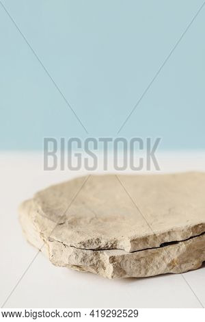 Background For Cosmetic Products Of Natural Beige Color.