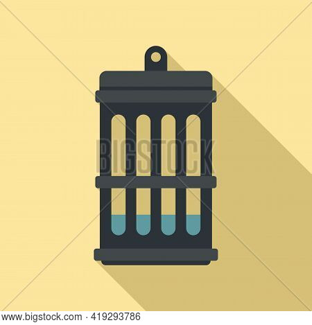 Insect Lamp Icon. Flat Illustration Of Insect Lamp Vector Icon For Web Design