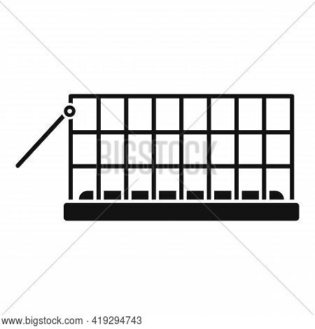 Animal Trap Cage Icon. Simple Illustration Of Animal Trap Cage Vector Icon For Web Design Isolated O