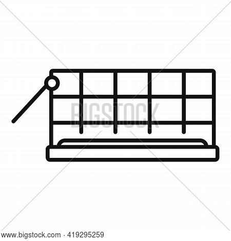 Animal Trap Cage Icon. Outline Animal Trap Cage Vector Icon For Web Design Isolated On White Backgro