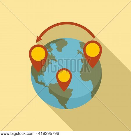 Global Illegal Immigrants Icon. Flat Illustration Of Global Illegal Immigrants Vector Icon For Web D