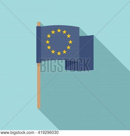 European Union Flag Icon. Flat Illustration Of European Union Flag Vector Icon For Web Design