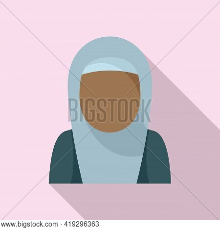 Immigrant Woman Icon. Flat Illustration Of Immigrant Woman Vector Icon For Web Design