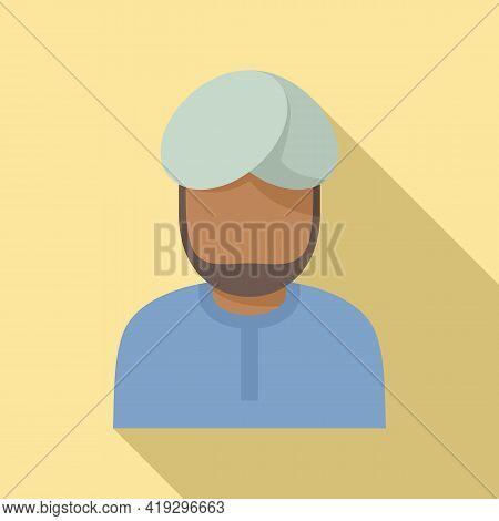 Arab Immigrant Icon. Flat Illustration Of Arab Immigrant Vector Icon For Web Design
