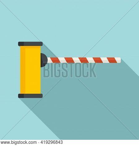Border Barrier Icon. Flat Illustration Of Border Barrier Vector Icon For Web Design