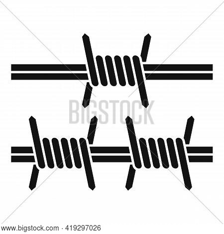 Border Wired Icon. Simple Illustration Of Border Wired Vector Icon For Web Design Isolated On White