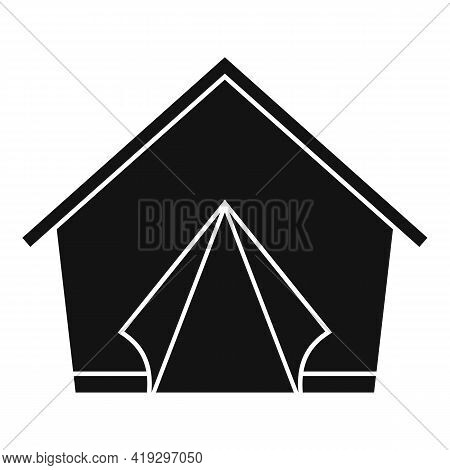 Refugees Tent Icon. Simple Illustration Of Refugees Tent Vector Icon For Web Design Isolated On Whit