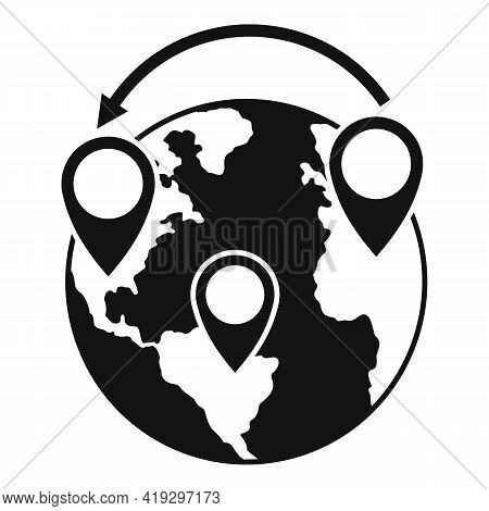 Global Illegal Immigrants Icon. Simple Illustration Of Global Illegal Immigrants Vector Icon For Web