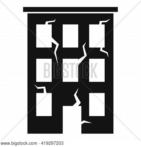Destroyed Building Icon. Simple Illustration Of Destroyed Building Vector Icon For Web Design Isolat