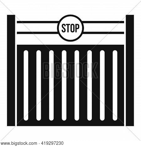 Border Gate Icon. Simple Illustration Of Border Gate Vector Icon For Web Design Isolated On White Ba