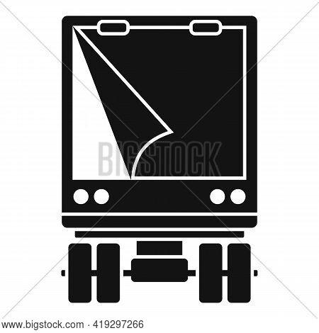 Illegal Immigrants Truck Icon. Simple Illustration Of Illegal Immigrants Truck Vector Icon For Web D